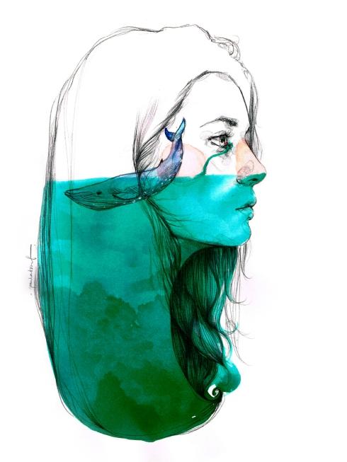 Il·lustració de Paula Bonet a l'espai creatiu  Escalera de incendios