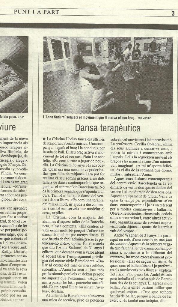 Entrevista publicada al Punt.