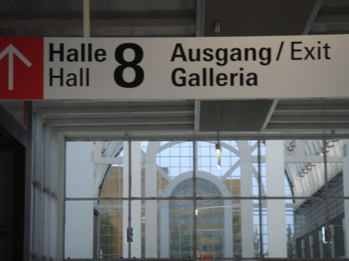 Hall number 8: the most international hall (of all). Can't turn back now!